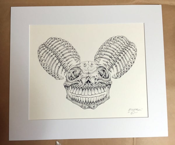 Image of Original Artwork Deadmau5 Skull by EMEK