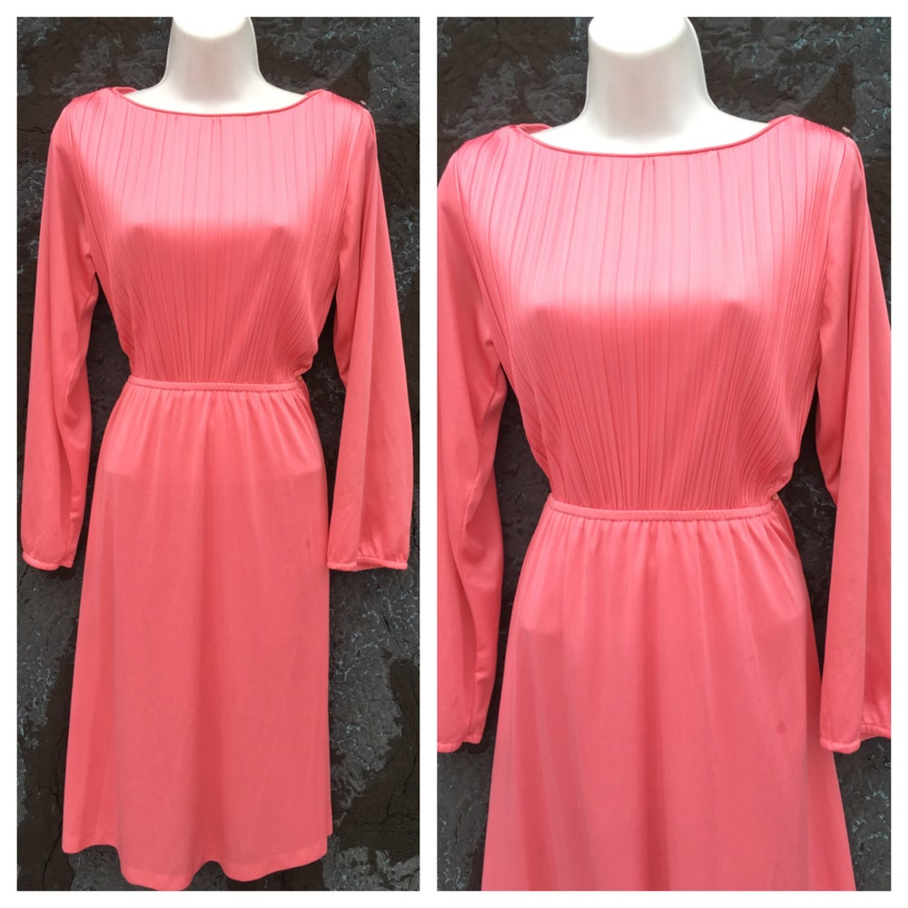 Image of Long Sleeve 70s Secretary Midi Dress