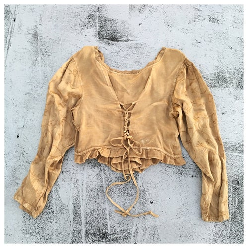 Image of Boho Peasant Renaissance Hippie Crop Top