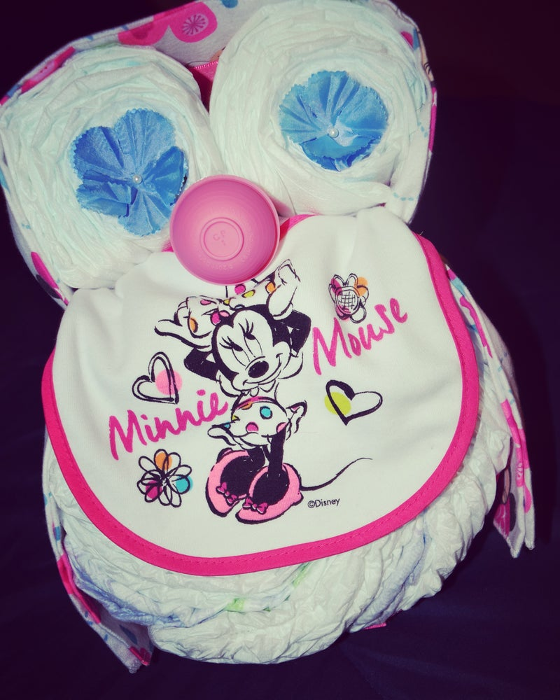Image of Owl Diaper Cake