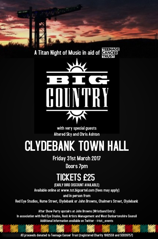 Image of Big Country and Support in aid of Teenage Cancer Trust