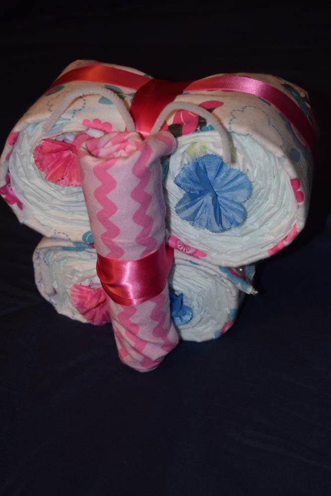 Image of Butterfly Diaper Cake