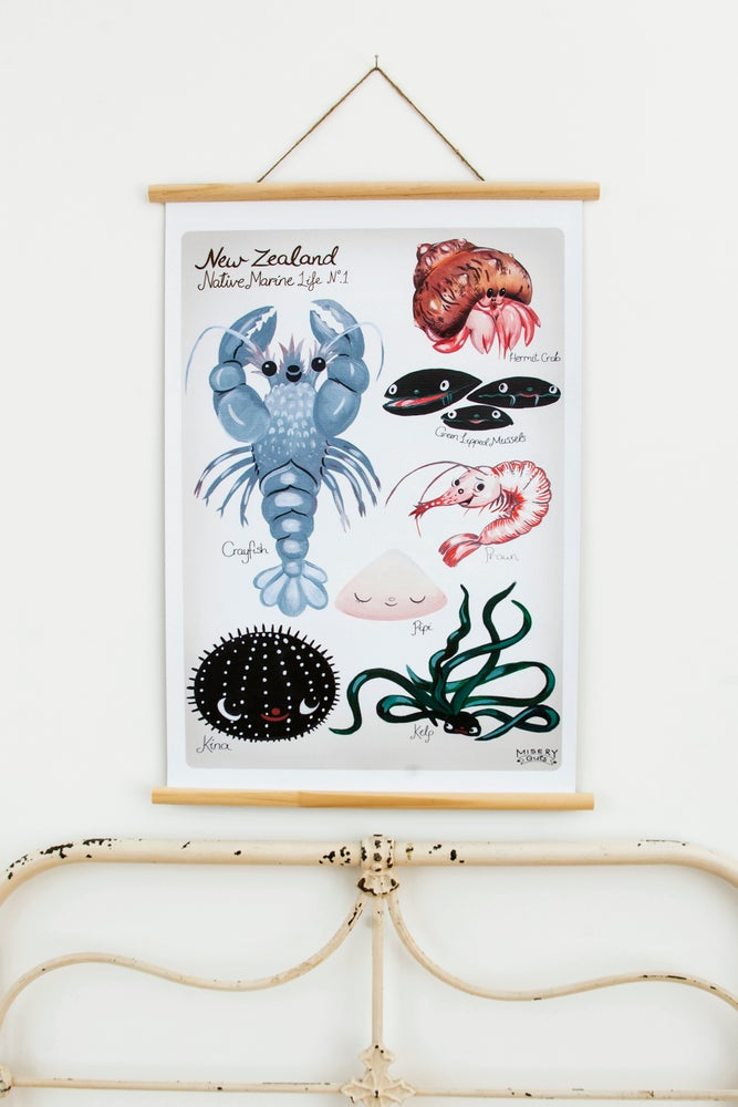 Image of New Zealand – Native Marine Life .1 (available in A2 & A1)