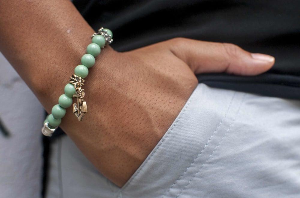Image of Mint Anchor Bracelet