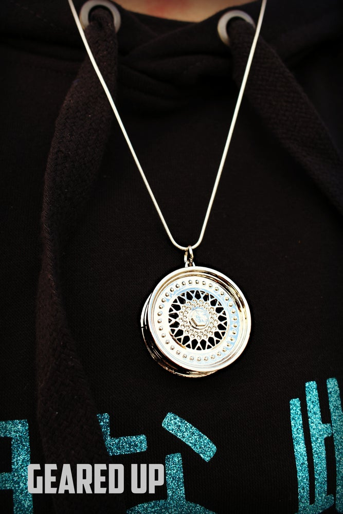 Image of Silver BBS Wheel Necklace