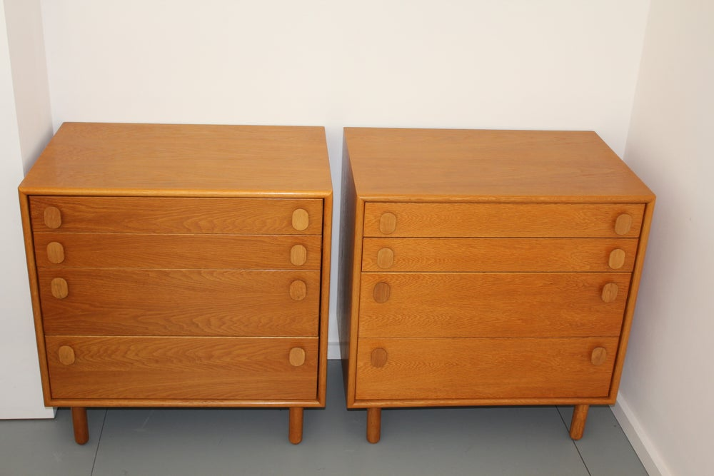 Image of Vintage Danish Style Meredew Oak Chest of Drawers c1960 Heals (pair available)