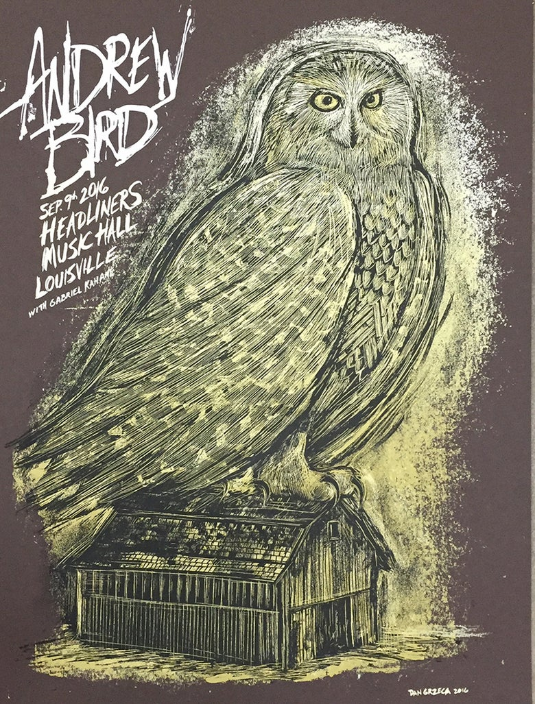 Image of Andrew Bird Louisville Poster Brown Edition