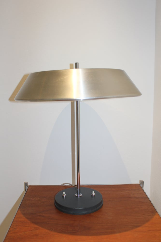 Image of Vintage Louis Kalff 'President' table/desk lamp for Philips Belguim c1960s Retro