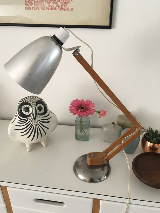 Image of Vintage steel & wooden 'Mac Lamp' designed by Sir Terence Conran c1960s