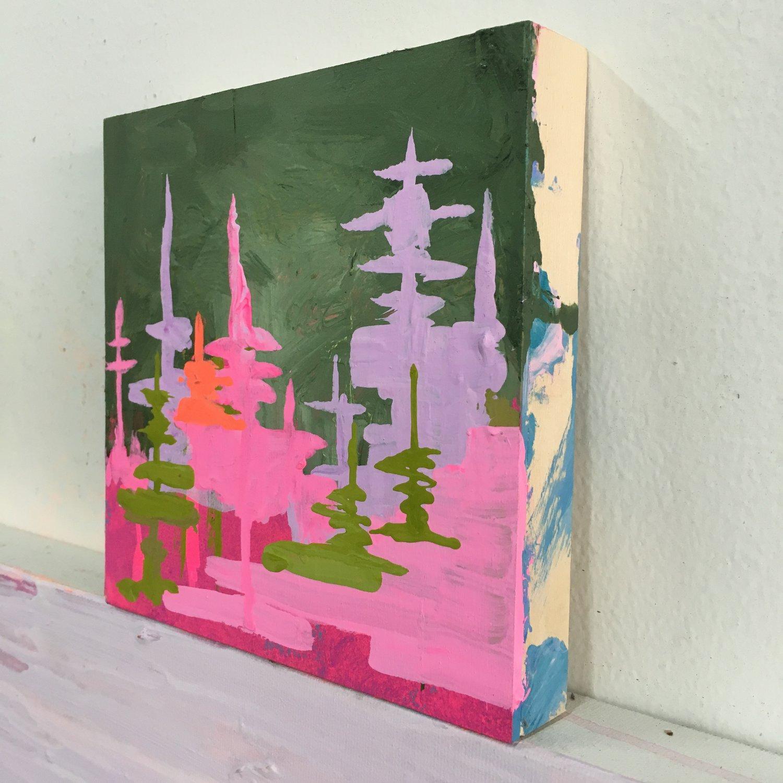 Image of tiny painting no. 57 (opera, sap, vermillion)