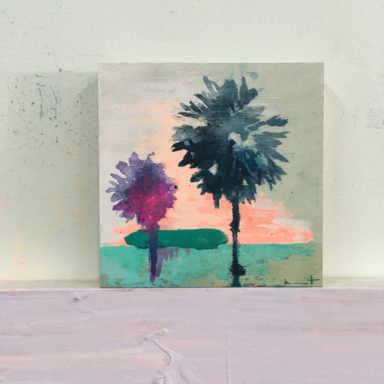 Image of tiny painting no. 56 (indigo, gulf, opera)