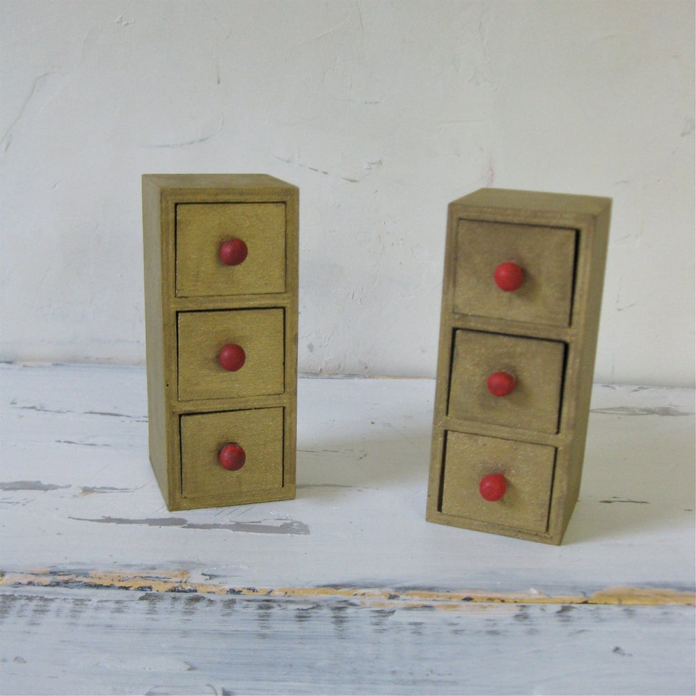 Image of 2 Sets of Tiny Italian Drawers