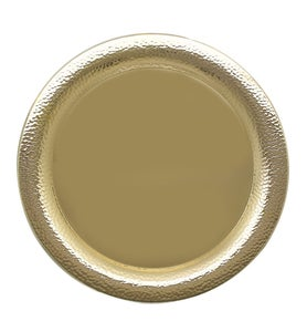 Image of Gold Round wedding tray