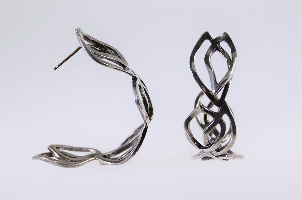 Image of Tratti silver hoops