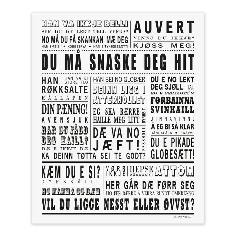 """Image of Senja postkort """"Du må snaske deg hit"""""""