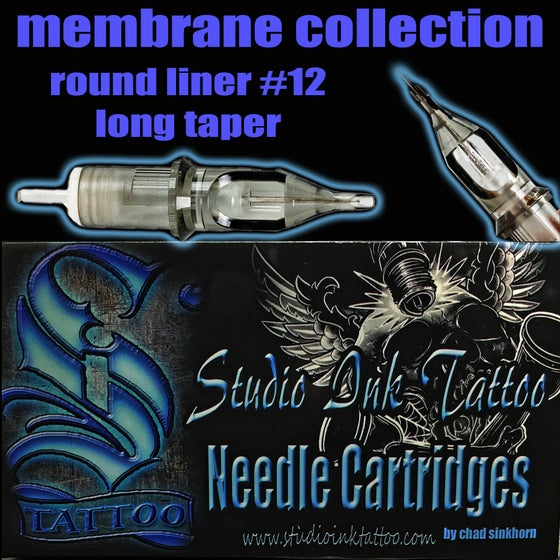 Image of membrane collection round liner #12 long taper
