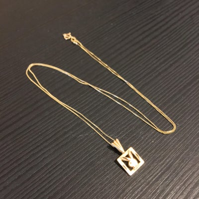 Image of Solid 18k Gold Playboy Pendant