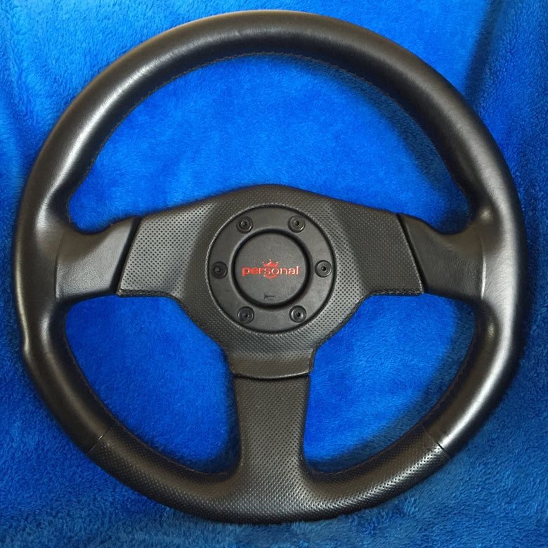 Image of Personal Tornado 350MM Leather/ Perforated Steering Wheel