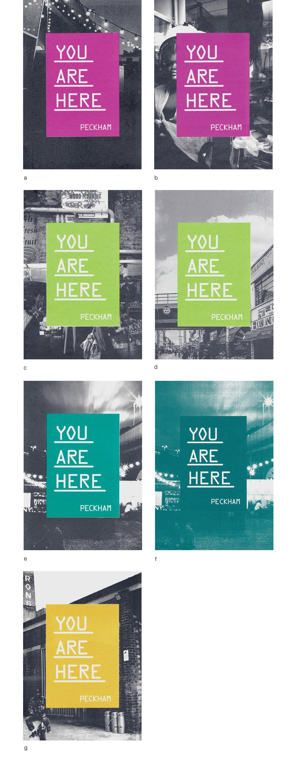 Image of Soul'D. You Are Here. Peckham Screen Print