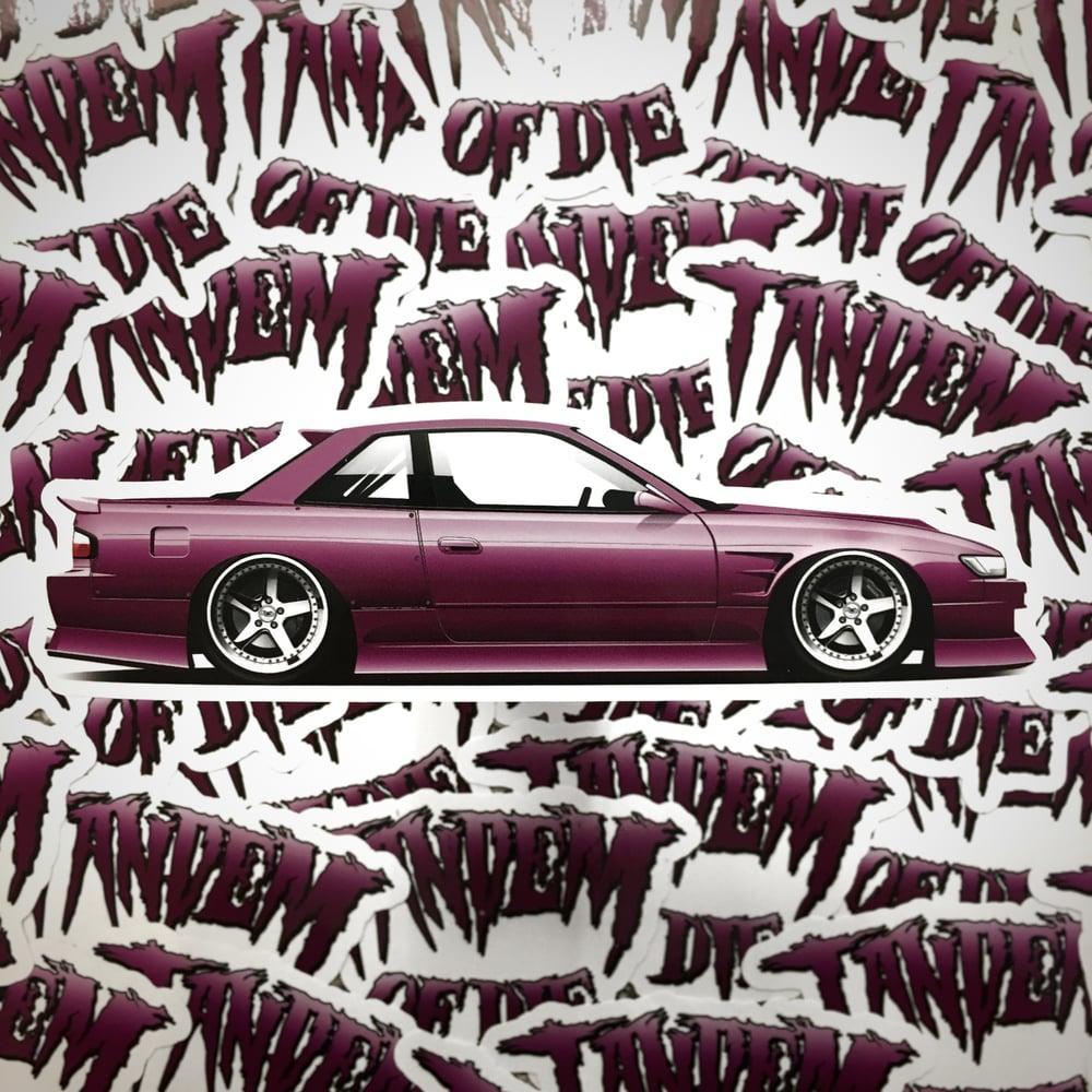 Image of Hero Prints x Tandem of Die coupe digi-print sticker