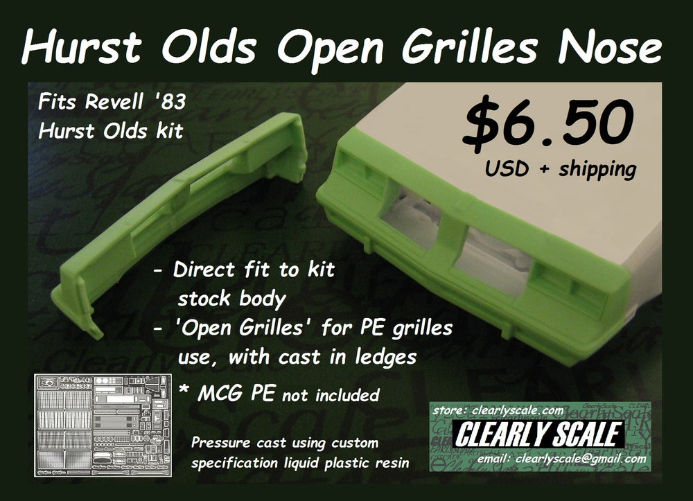 "Image of Hurst Olds ""Open Grille"" Nose (Revell '83 Hurst Olds)"