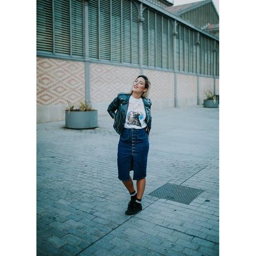 Image of Falda Denim Streetstyle