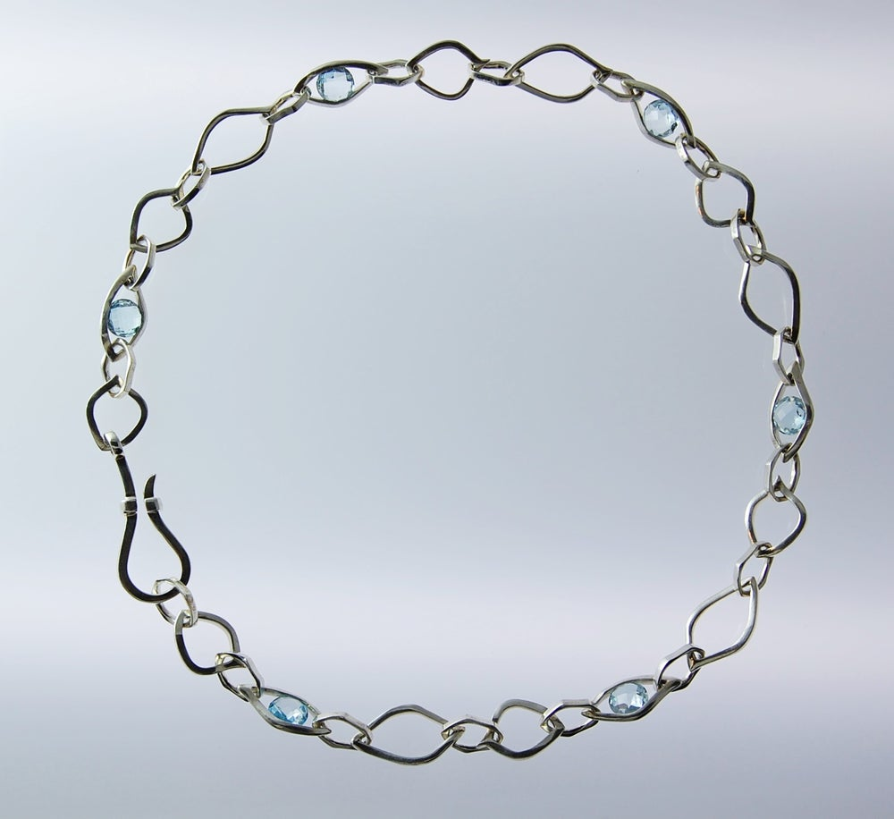 Image of Tratti Blu Necklace