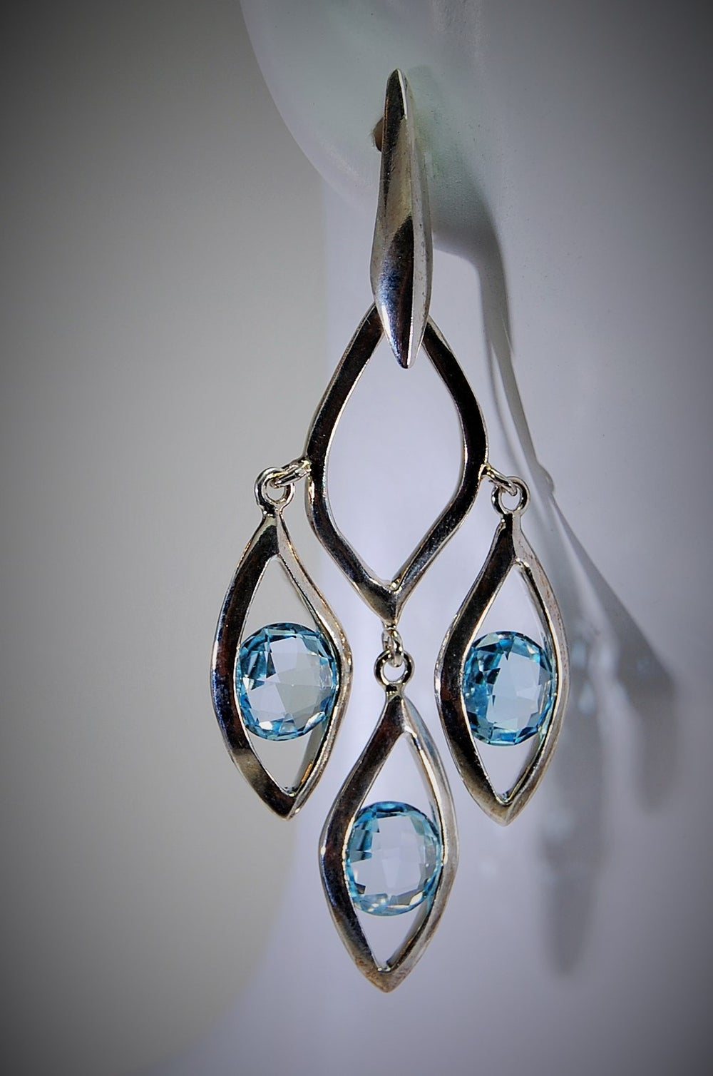 Image of Tratti Blu Chandelier Earrings