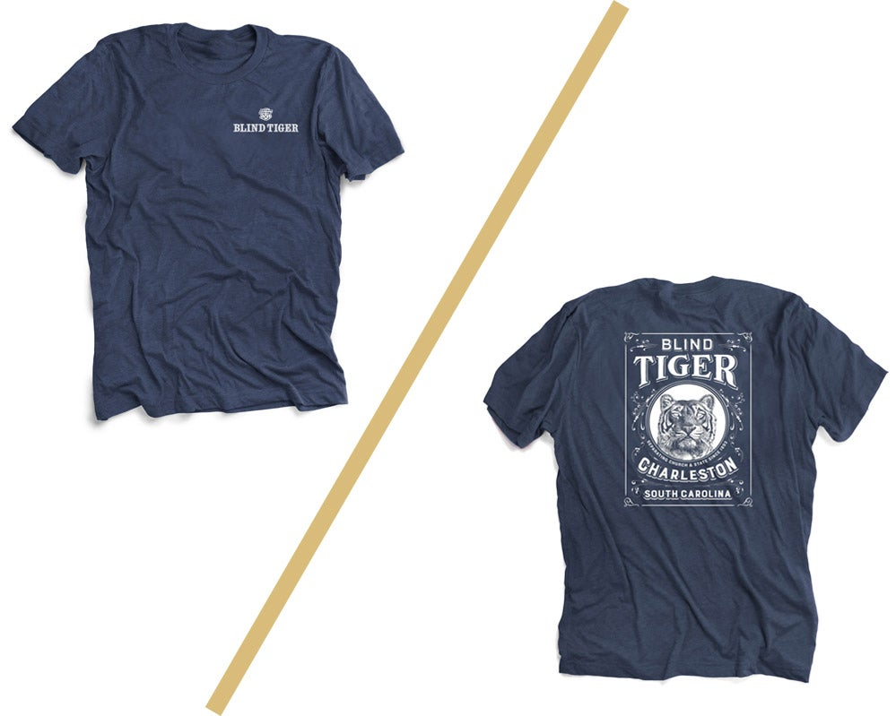 Image of Blind Tiger T-Shirt: Indigo
