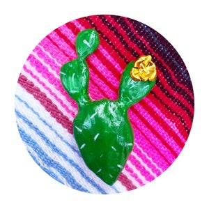 Image of Nifty Nopal brooch