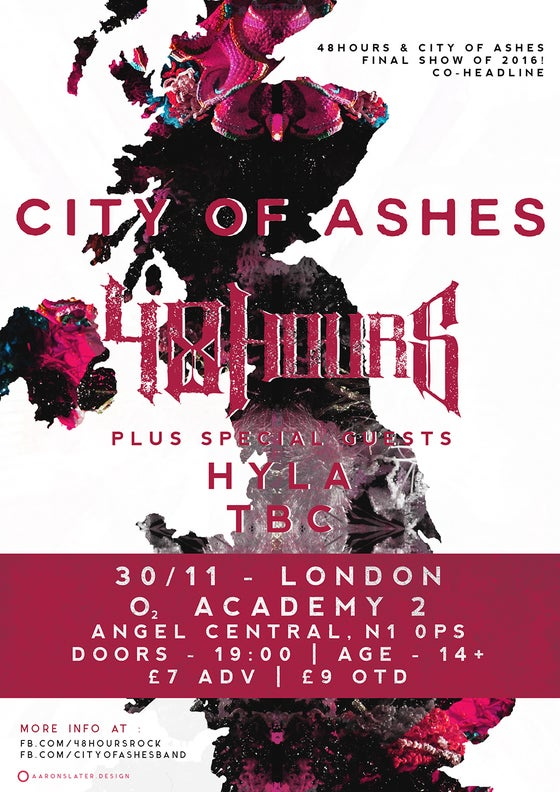 Image of ***TICKETS FOR RESCHEDULED CO-HEADLINE SHOW WITH CITY OF ASHES - LONDON***