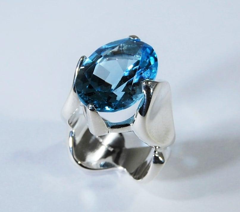 Image of Tratti blu Ring