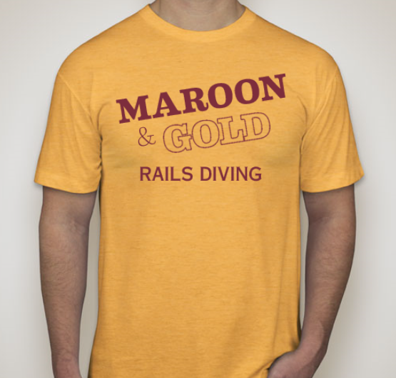 Image of Gold Out T-Shirts - Diving