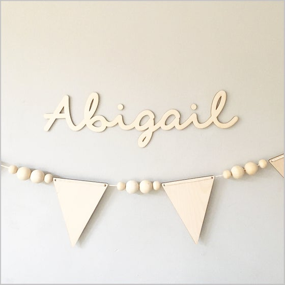 Image of Custom birch name sign small