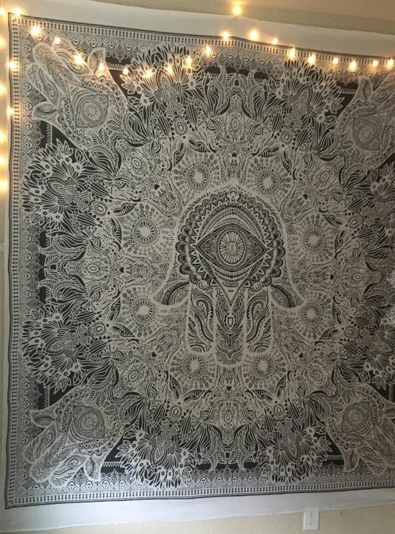 Image of Ash Hamsa Tapestry