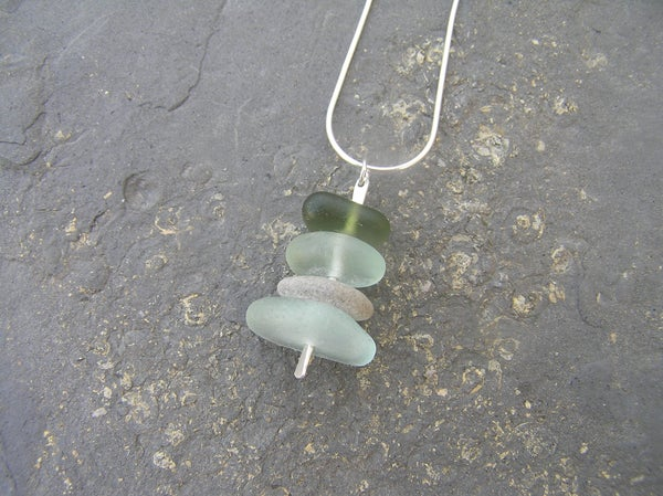 Image of Seaglass stacker pendant