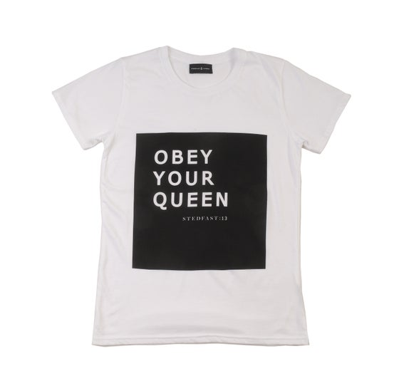 Image of Womens Obey Your Queen T-shirt