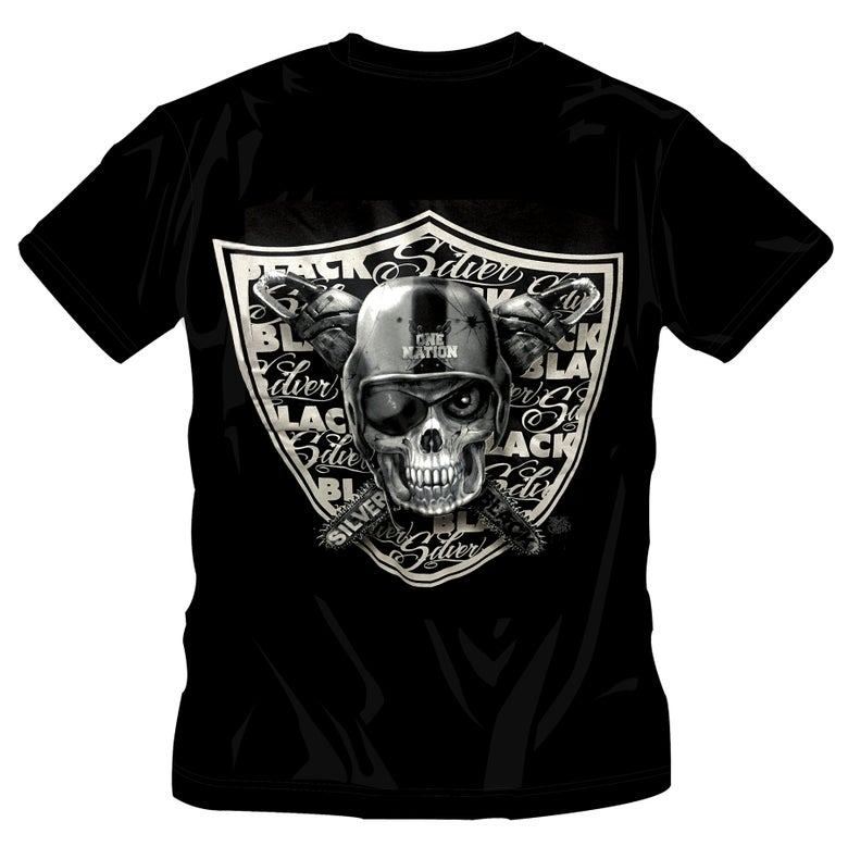 Image of #63 ONE NATION SKULL