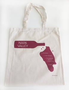 Image of Napa Valley Wine Pour Lightweight Cotton Canvas Tote Bag