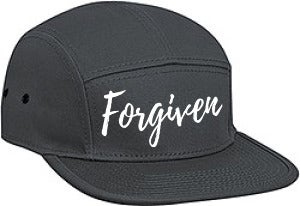 Image of Forgiven Cap Charcoal Gray & White