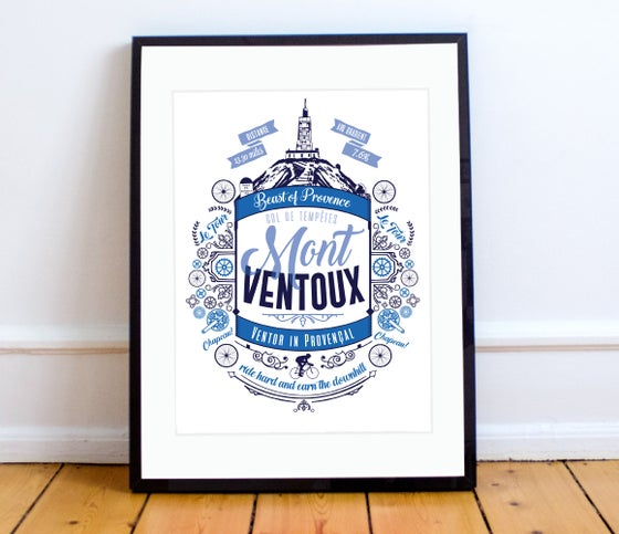 Image of Mont Ventoux print - A4 or A3