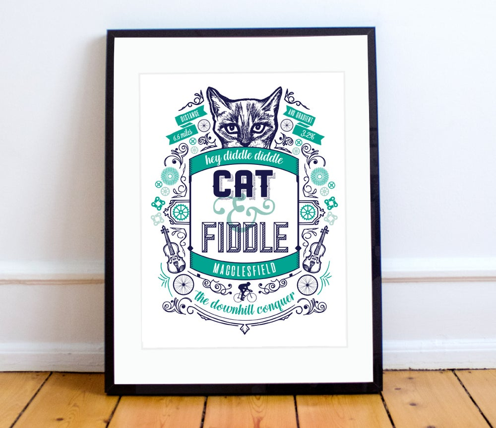 Image of Cat & Fiddle print - A4 or A3