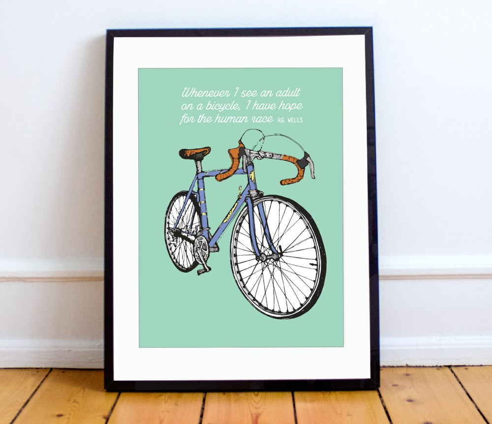Image of Green bike print - A4 or A3
