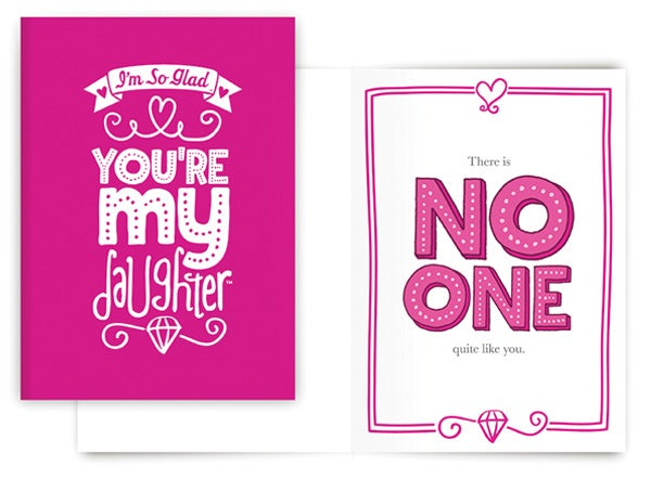 NO ONE QUITE LIKE YOU CARD (DAUGHTER)
