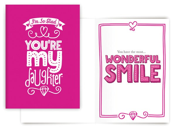 WONDERFUL SMILE CARD (DAUGHTER)