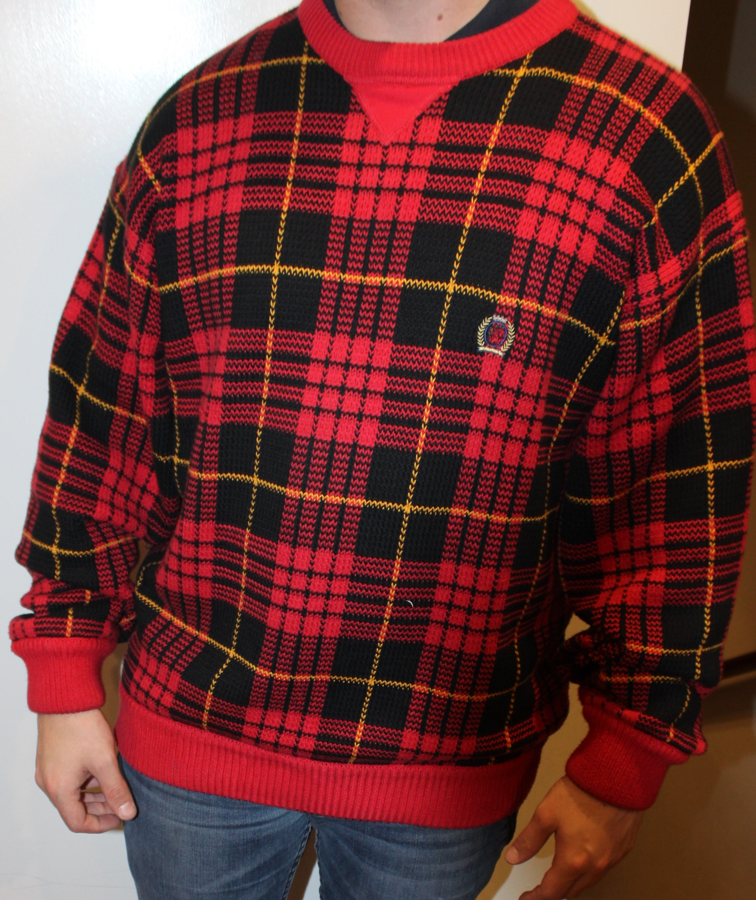 Tommy Hilfiger Pullover Sweater With Oldschool Logo Vintage Union Xl