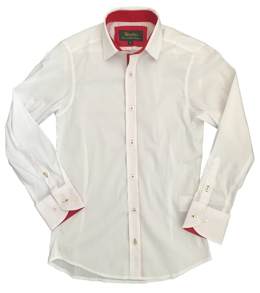 Image of White w/Red Trim Party Shirt