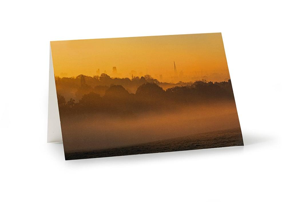 Image of City View at Dawn Card