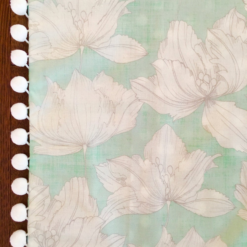 Image of Mint & Gray Floral Pillow Sham