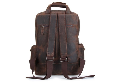 Image of Handmade Vintage Leather Backpack, Travel Backpack B826
